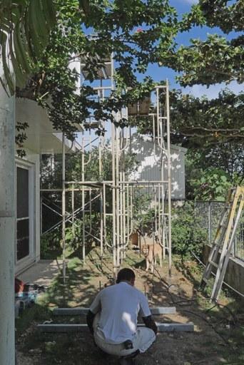 屋上階段工事-a P1140161
