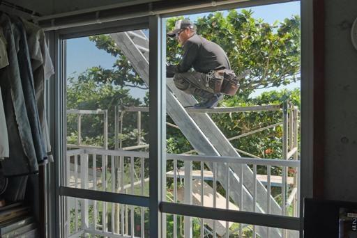 屋上階段工事-b P1140222