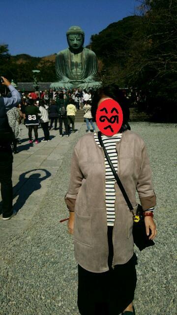 母と鎌倉大仏