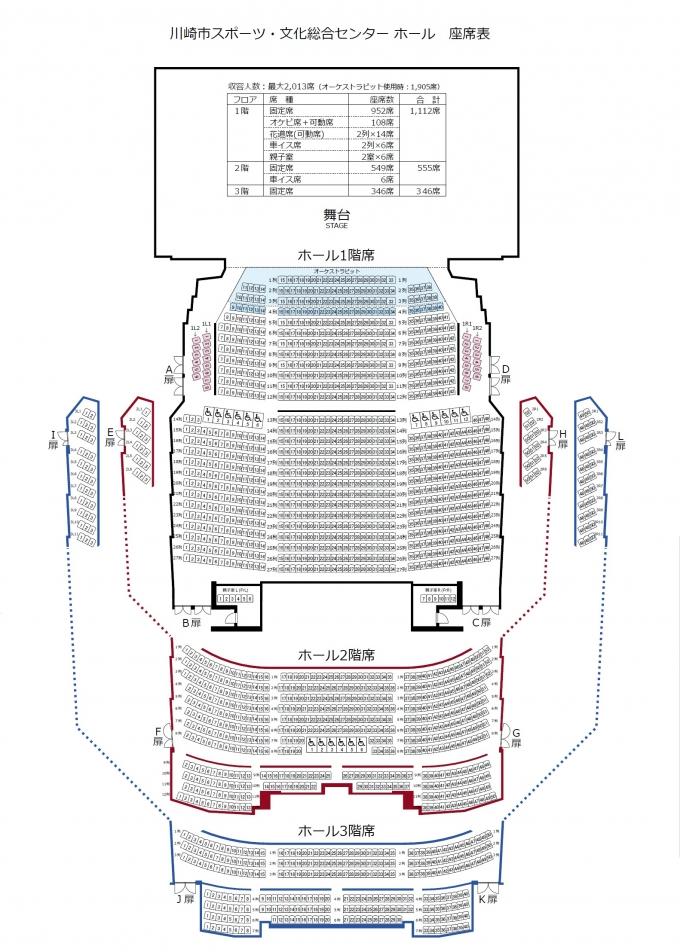 カルッツ座席表