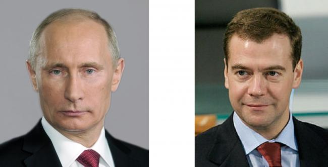 プーチンとメドベージェフ