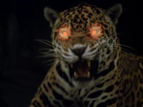 ジャガーの赤く光る眼に吸い込まれて行って・・・