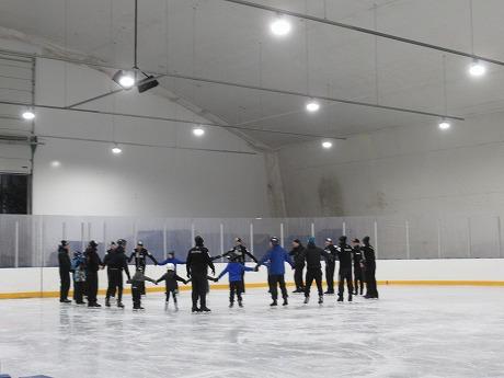 シンクロナイズドスケーティング練習風景2