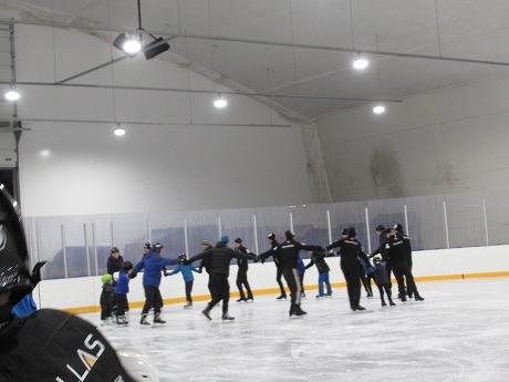 シンクロナイズドスケーティング練習風景3