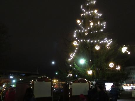 クリスマスツリー夜2