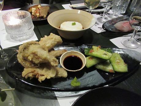 梅ガーリックキュウリ、ジーマーミ豆腐