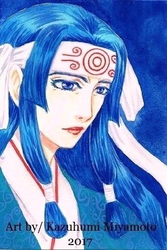 「龍天界起」の主人公・甲矢武の母。パーツが男性よりなのでゴツくなりすぎないように注意してます。