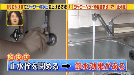 止水栓で節水