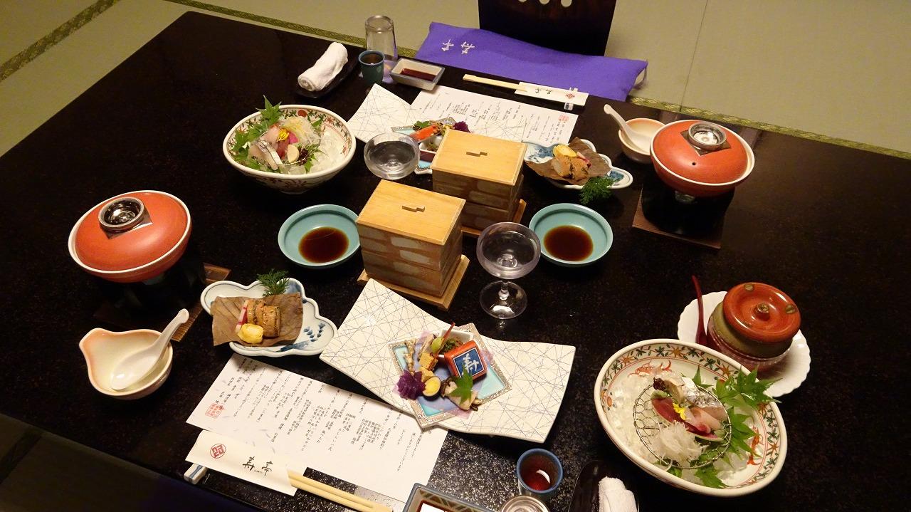 湯の山温泉 寿亭 食事編 (2017年10月)