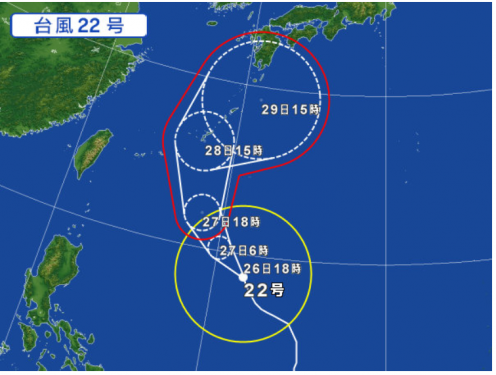 2017台風22号予報