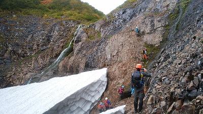 パンケニワナイ沢大滝2