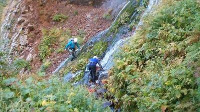 小屋の沢下降滝2