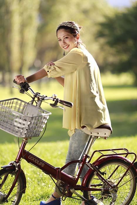 智美:自転車