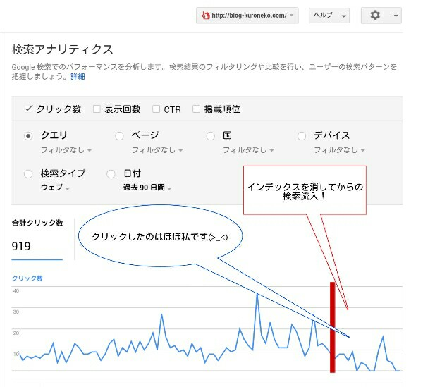 検索流入のデータ