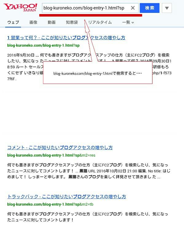 検索エンジンに多数の類似ページがインデックスされている様子