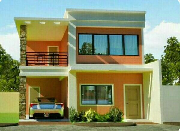 シンプルな屋根の家