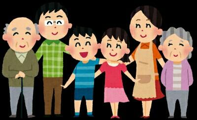 色々な世代が揃った家族のイメージ