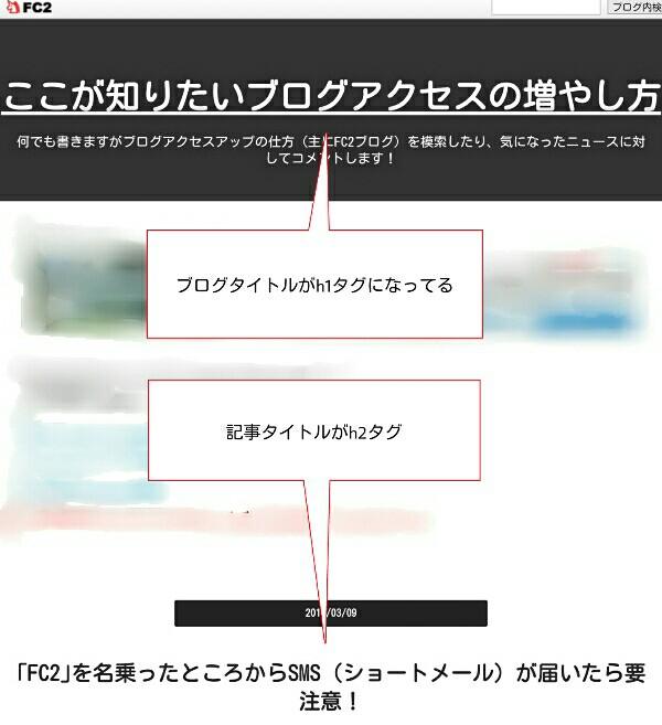 h1がブログタイトルになっている画像