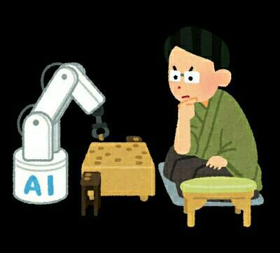 AIと人間が将棋で勝負している様子