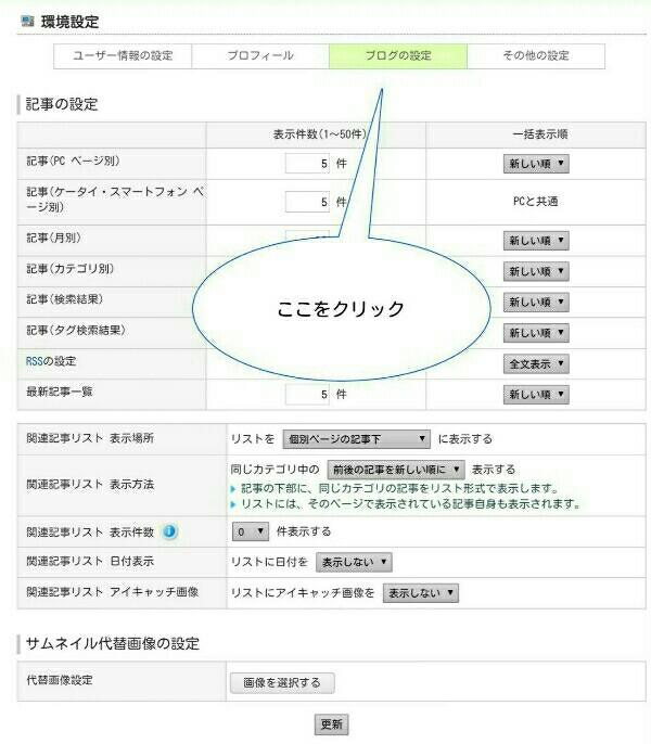 FC2ブログの管理画面の操作説明2