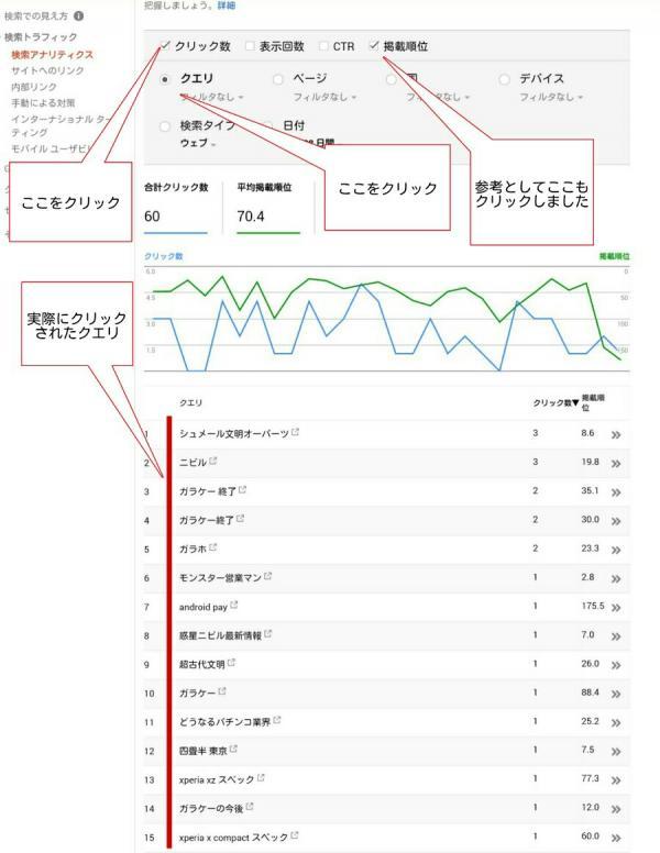 search consoleの操作説明2