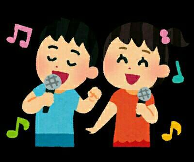 歌を歌っている様子