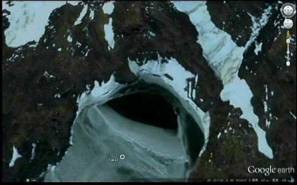 南極大陸にあるエイリアンの基地