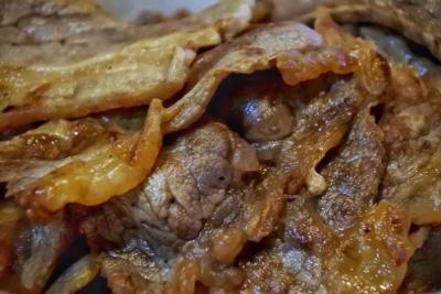 松屋のカルビ焼肉定食