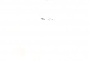 ブラッド・ピットの鉛筆画似顔絵途中経過