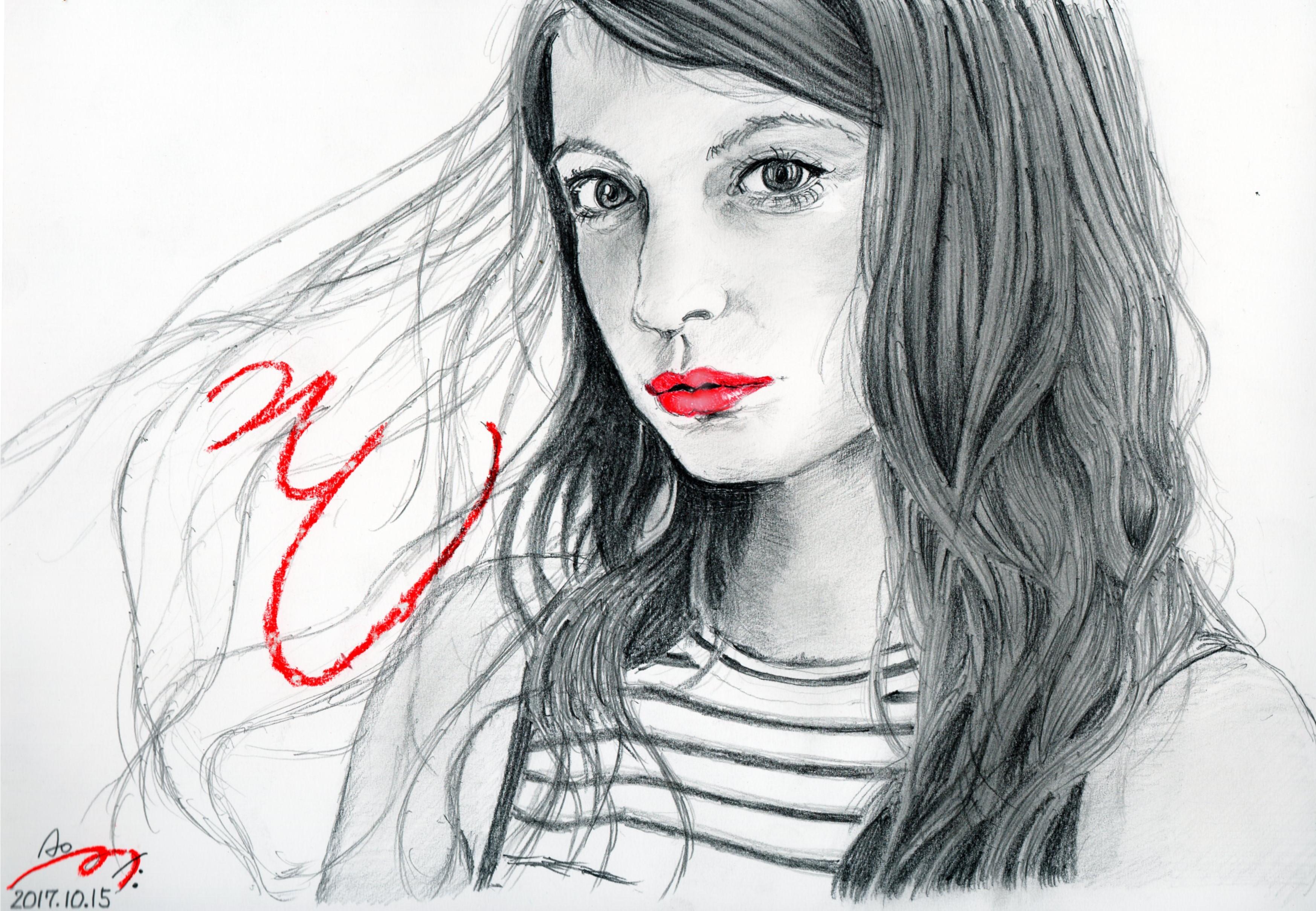 マギーの鉛筆画似顔絵