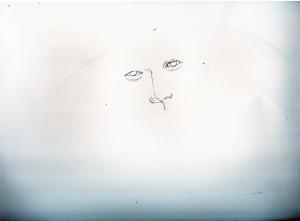 小栗旬の鉛筆画似顔絵途中経過